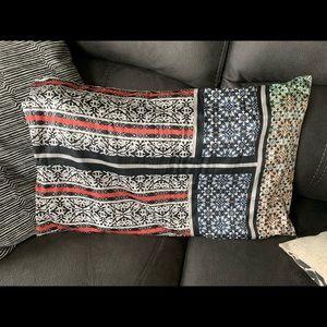 Silk lumbar pillow cover